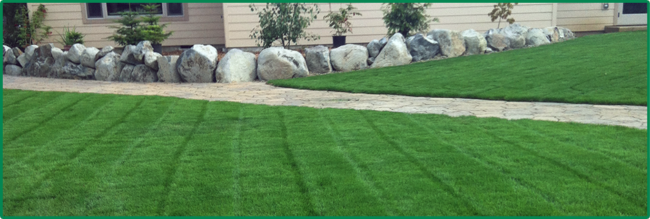 Lawn Aeration and Paved Stone Walkways
